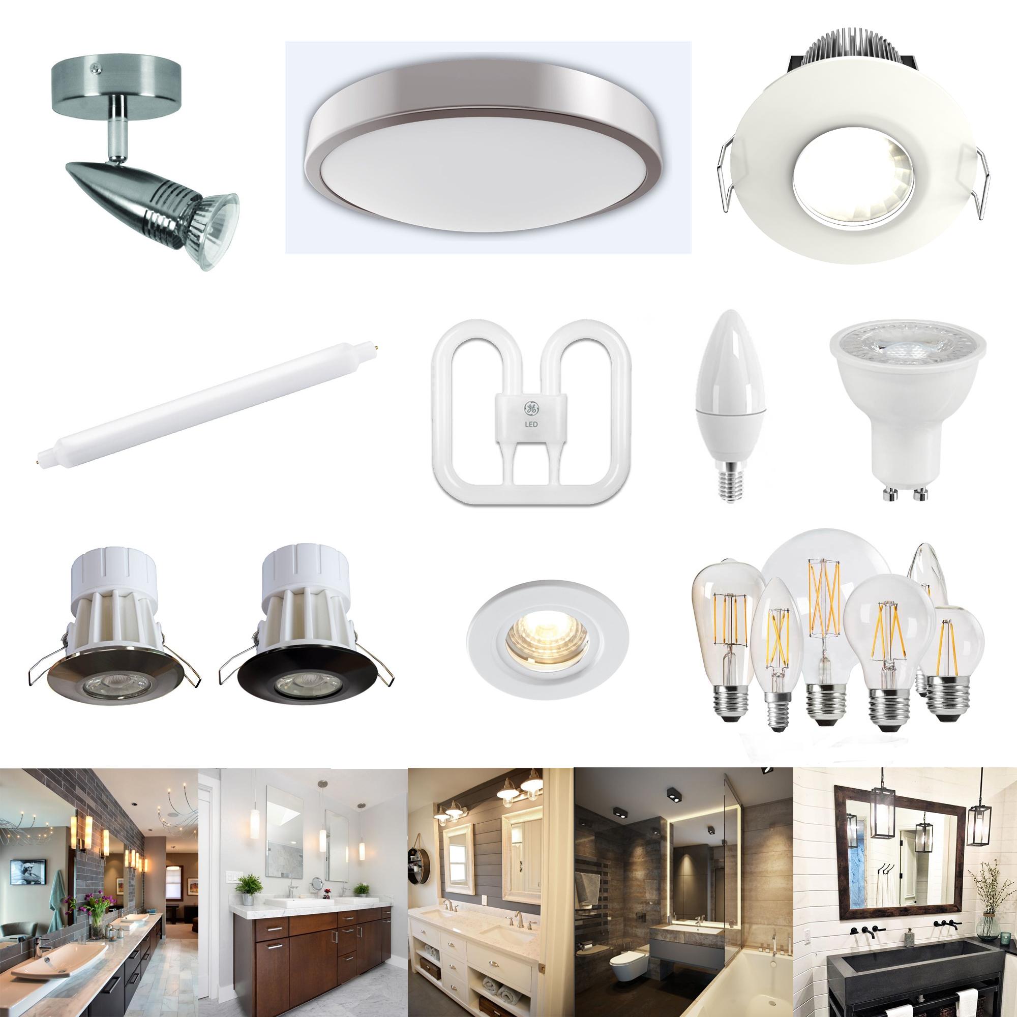 badezimmer beleuchtung led oder fluoreszierend decke strahler lampen ebay. Black Bedroom Furniture Sets. Home Design Ideas