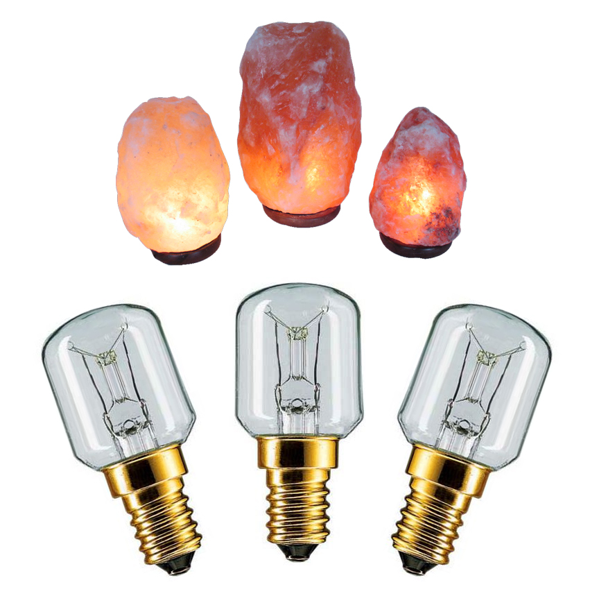 3 X 15w Himalayan Rock Salt Replacement Bulbs For Lamps Small Edison Screw Ses Ebay
