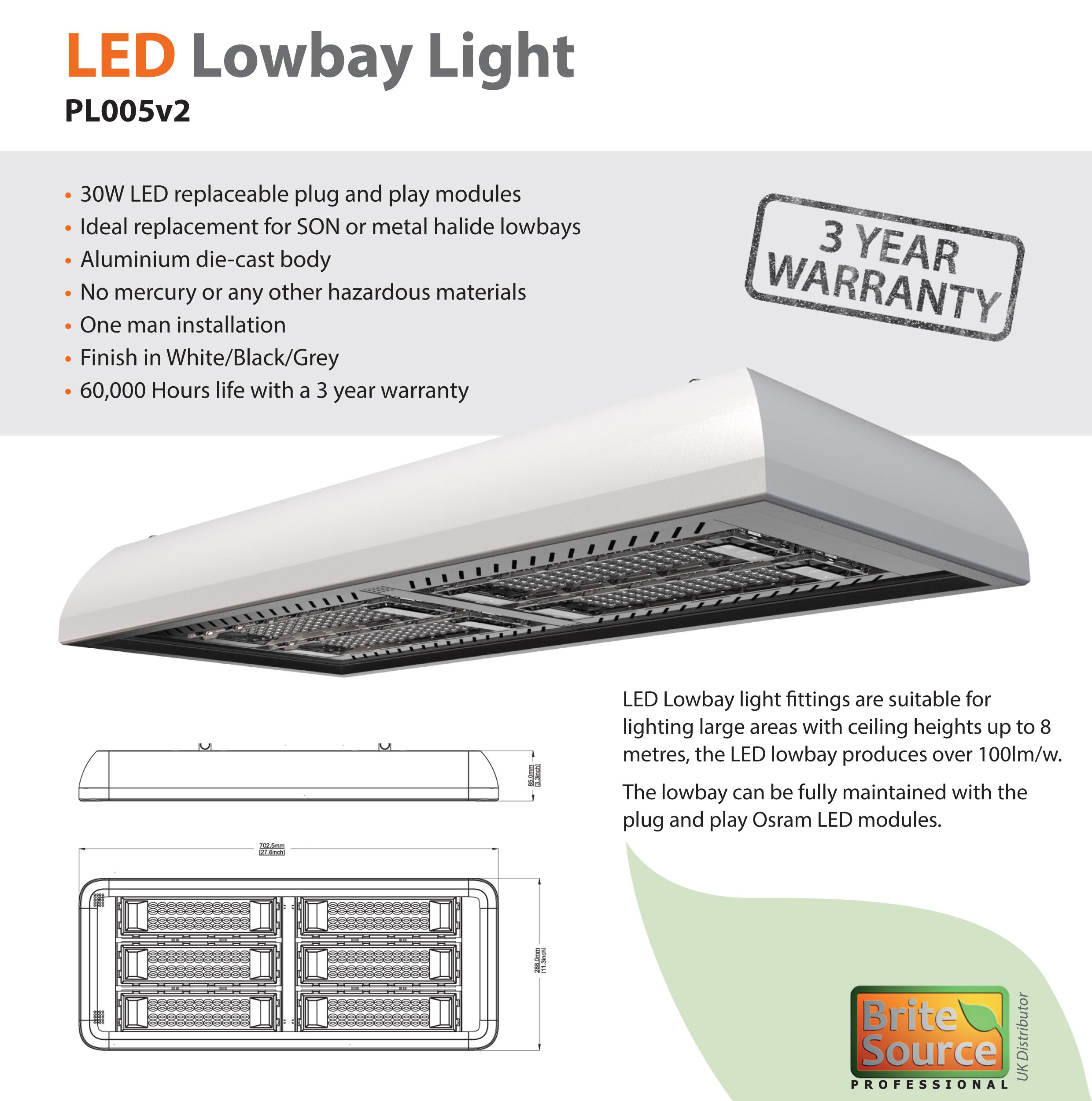19,800 Lumen 180w LED Lowbay [5700k]