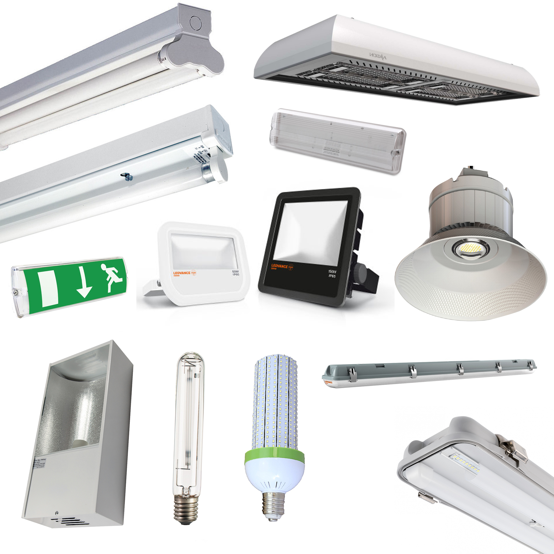 Warehouse LED Lighting T8 Fluorescent Fittings, LowBay
